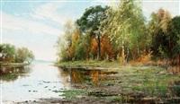 insjölandskap i höstskrud by arvid mauritz lindström