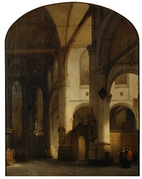 interior of sint janskerk church in gouda by jan jacob schenkel
