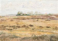 landscape on hiddensee by carl hessmert