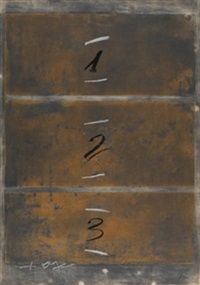 triptic vertical by antoni tàpies