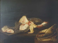 nature morte de poissons by alexander adriaenssen the elder