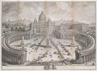 il prospetto principale del tempio e piazza di s. pietro in vaticano (+ 2 others; 3 works) by giuseppe vasi