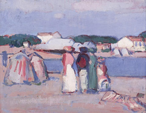 the beach royan by john duncan fergusson