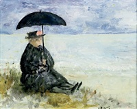 grannie on the beach by phyllis paulina waterhouse