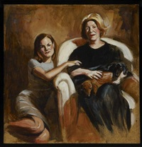 portrait with pablo & chiquita 3 (study) by delia brown