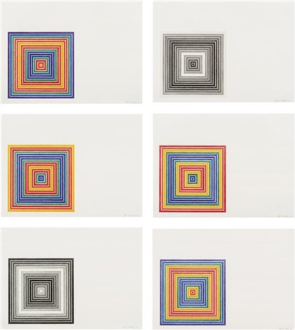 multicolored squares i series (set of 6) by frank stella