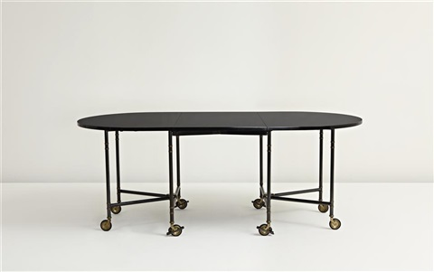 Retractable Dining Table By Maison Jansen