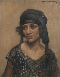 portrait of a girl in flapper dress by allan douglas davidson