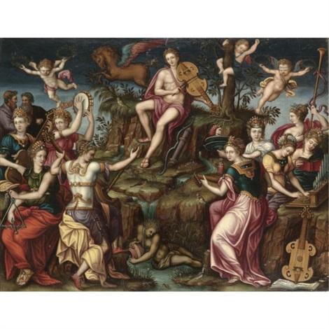 apollo and parnassus by luca romano penni