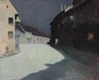 une rue au clair du lune by edmond picard