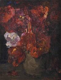 donkere tulpen: dark tulips by floris hendrik verster