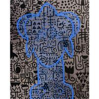 acrylique sur toile by victor ekpuk