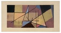 geometrische komposition in gelb by erhard hippold