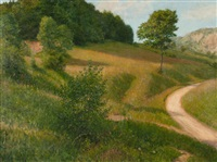 summer landscape by adolf helmberger