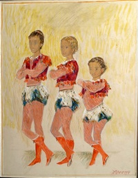 the three acrobats by alexis paul arapov