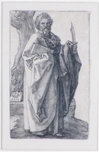 st. bartholomew by albrecht dürer
