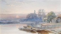 sunrise on the thames at wargrave by samuel phillips jackson