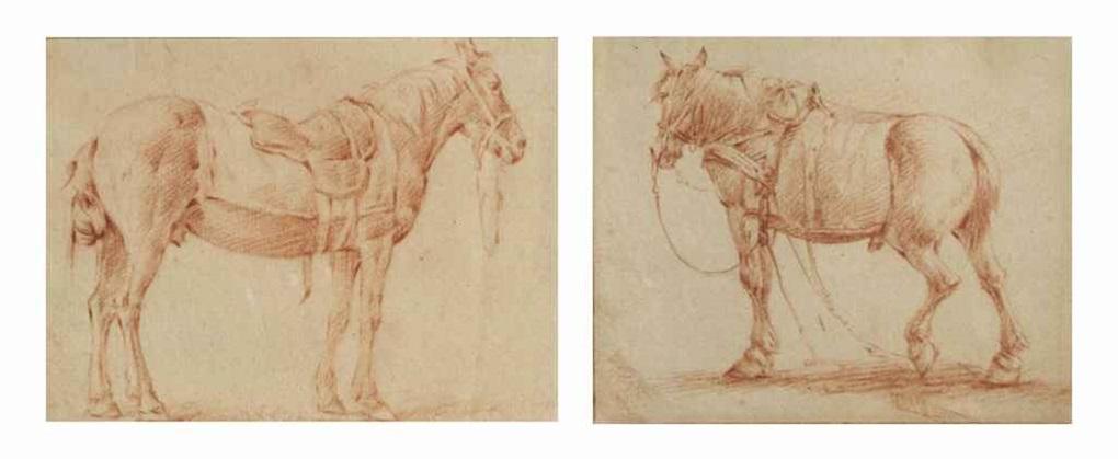 cheval tourné vers la droite cheval tourné vers la gauche smllr 2 works on 1 mount by adriaen van de velde