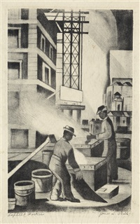 asphalt workers by james lesesne wells