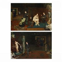 scene in a room (2 works) by frank hyde