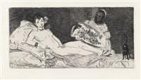 histoire d'édouard manet et de son oeuvre (portfolio of 2) by édouard manet