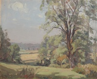early morning, dedham valley by algernon talmage