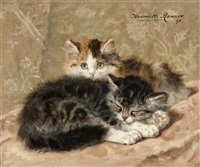 on the watch by henriette ronner-knip