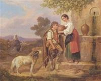 italian idyl by ludwig (georg l.) vogel