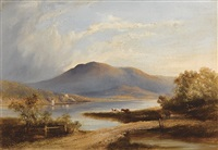 view of mount wellington from risdon by william charles piguenit