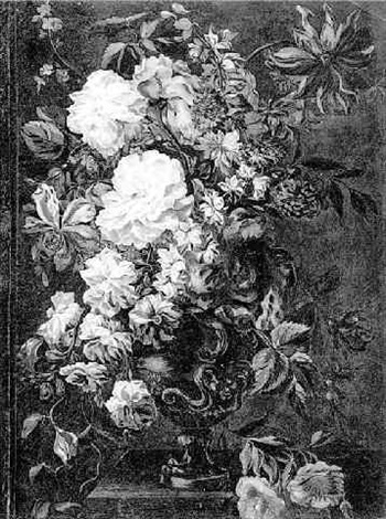 a vase of flowers by mary moser