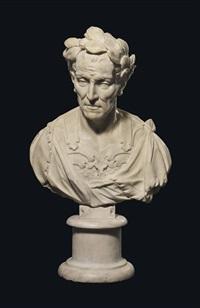 a bust of julius caesar by peter anton von verschaffelt