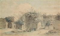 paysage de ruines animées by alexis nicolas perignon the elder