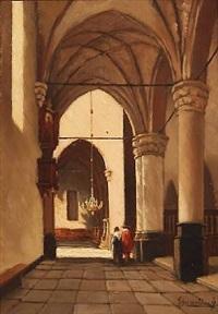 monastery interior by jan baptiste tetar van elven