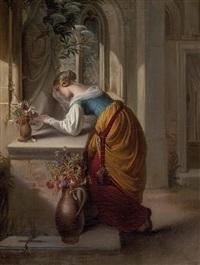 gretchen vor der statue der heiligen maria by adam vogler