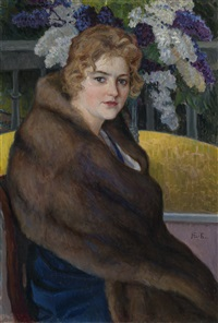 portrait of maria emelianova by nikolai petrovich bogdanov-bel'sky