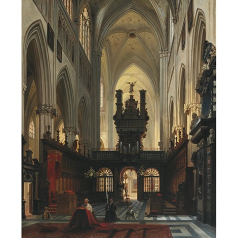 cathedral interior by jules victor genisson