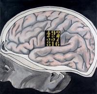 cerebro y cuadrado de saturno by charlie squirru