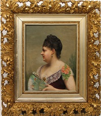portrait of a lady by auguste pichon