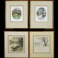 heiligenblut, austria; klosternenburg, austria; himmelstrasse (4 works) by luigi kasimir
