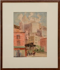 new york city view by reginald marsh