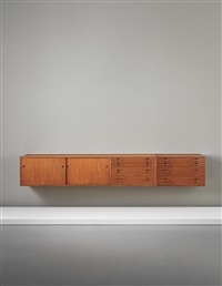 wall-mounted sideboard and drawer unit by hans j. wegner