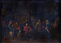 joueurs de violon dans un cabaret by matheus van helmont