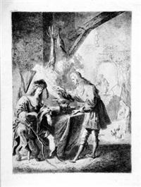 esau verkauft sein erstgeburtsrecht an jakob by peeter (pieter) rottermondt