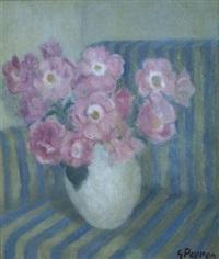 fiori rosa nel vaso by guido peyron