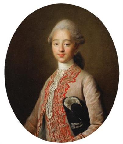 portrait de jeune garçon de trois quarts by françois hubert drouais