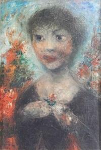 portrait de femme by édouard joseph goerg