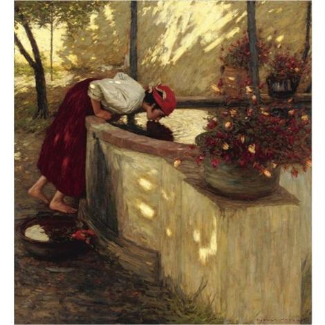 ligurian roses by henry herbert la thangue