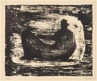 black reclining figure ii (c.379) by henry moore