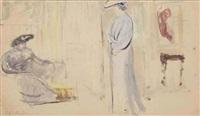 deux femmes en chapeau by edouard vuillard