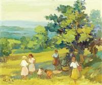 paisagem com figuras by maria fernanda amado
